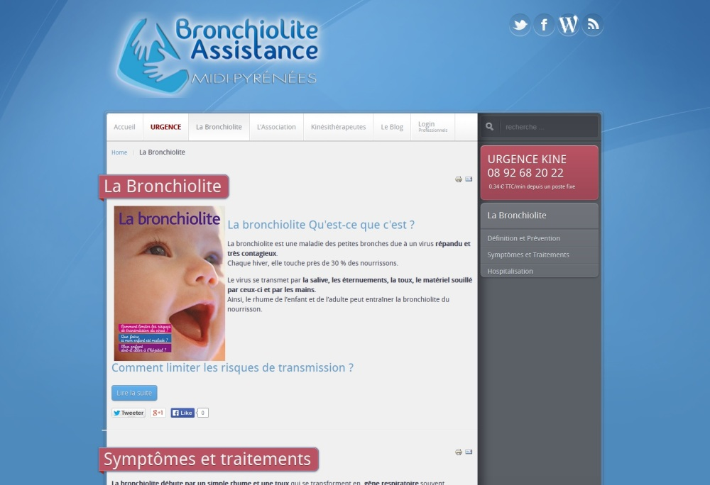 Site internet de l'association Bronchiolite Assistance en Midi Pyrénées