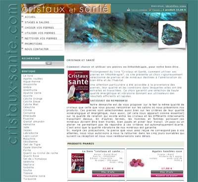 Site prestashop Cristaux et santé