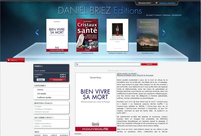 Première e-boutique Daniel Briez éditions réalisé pour la société Imagin'all en 2012 par Cap Médiations
