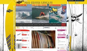 copie d'écran site naishprocenterleucate.com