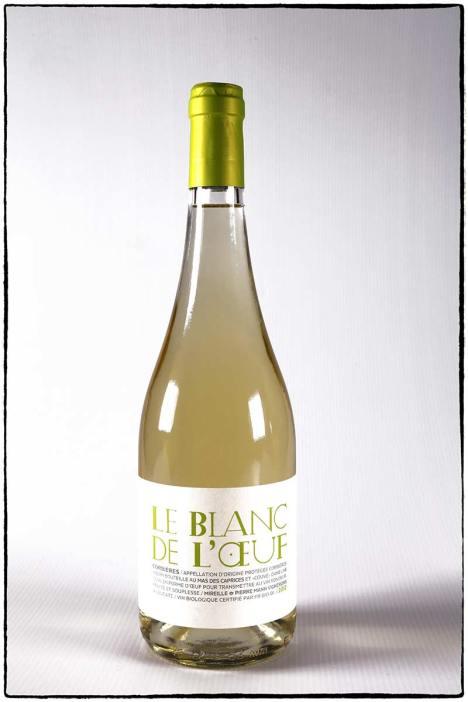 Le blanc de l'oeuf, vin blanc bio du Mas des caprices, Photographie Serge Briez pour Cap Médiations 2012