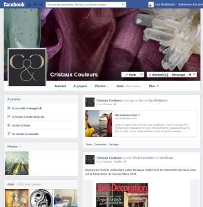 Retrouvez CRISTAUX & COULEURS sur facebook