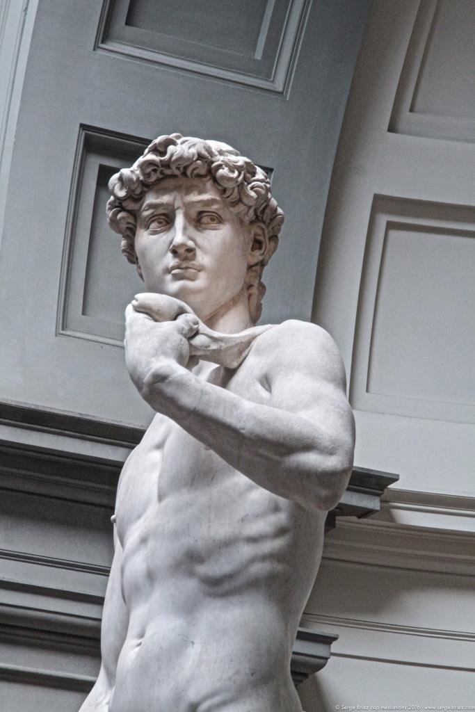 DAVID de MICHEL ANGE, Galerie des Offices à Florence, Photo Serge BRIEZ®