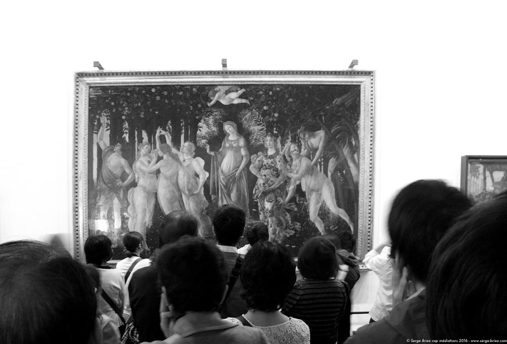 LE PRINTEMPS DE BOTTICELLI, Galerie des Offices à Florence, photo Serge Briez®