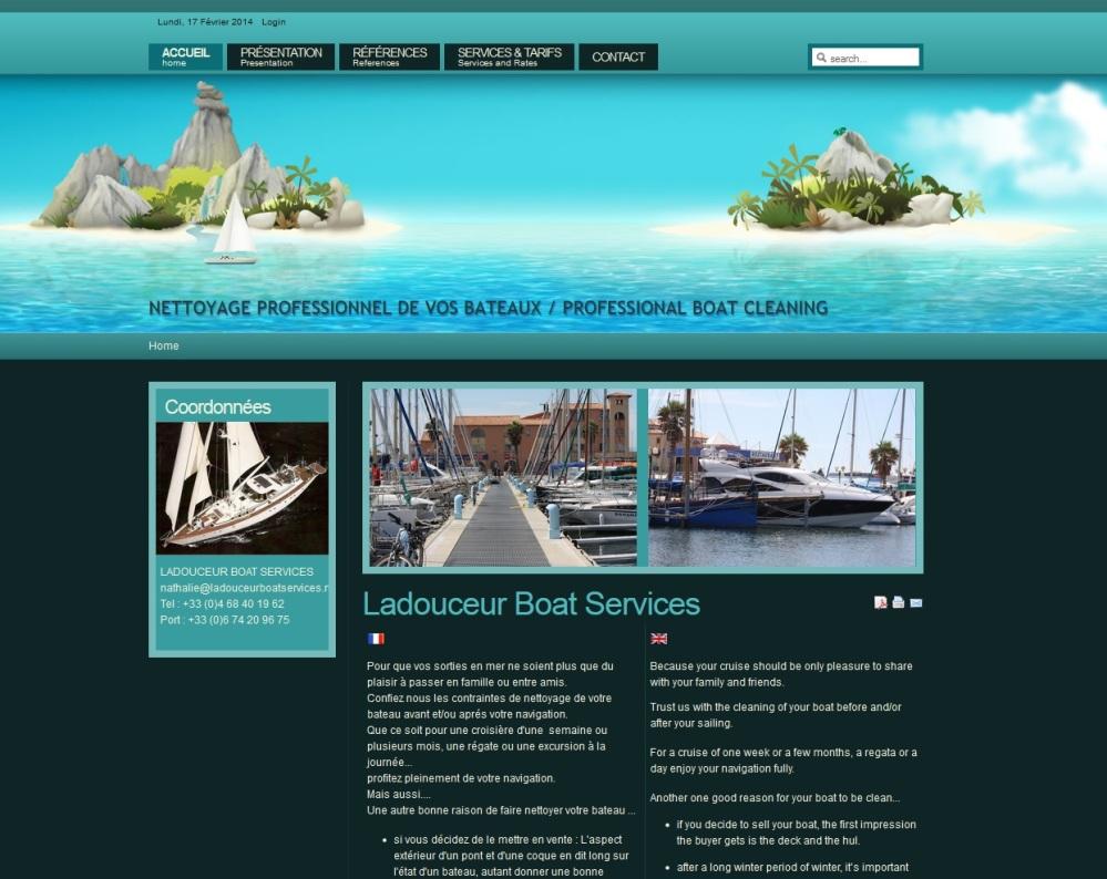 Société de services, Ladouceur boat services à Leucate