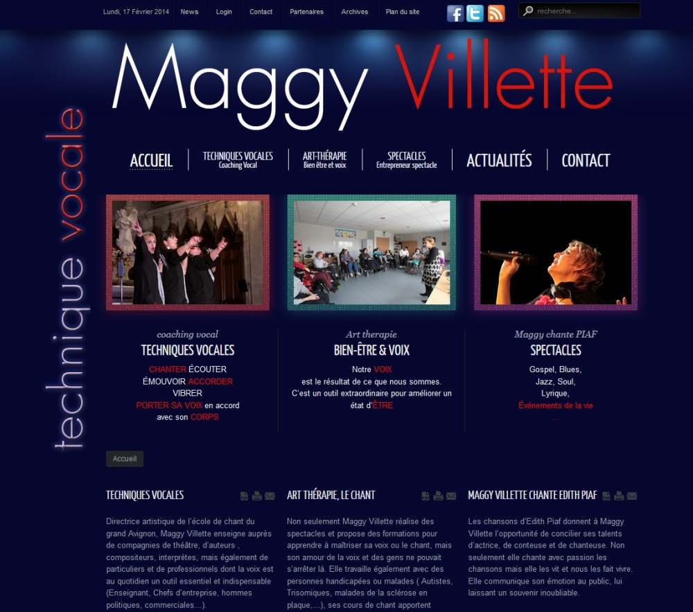 Maggy Villette, chanteuse, interprète, coach vocal, professeur de chant
