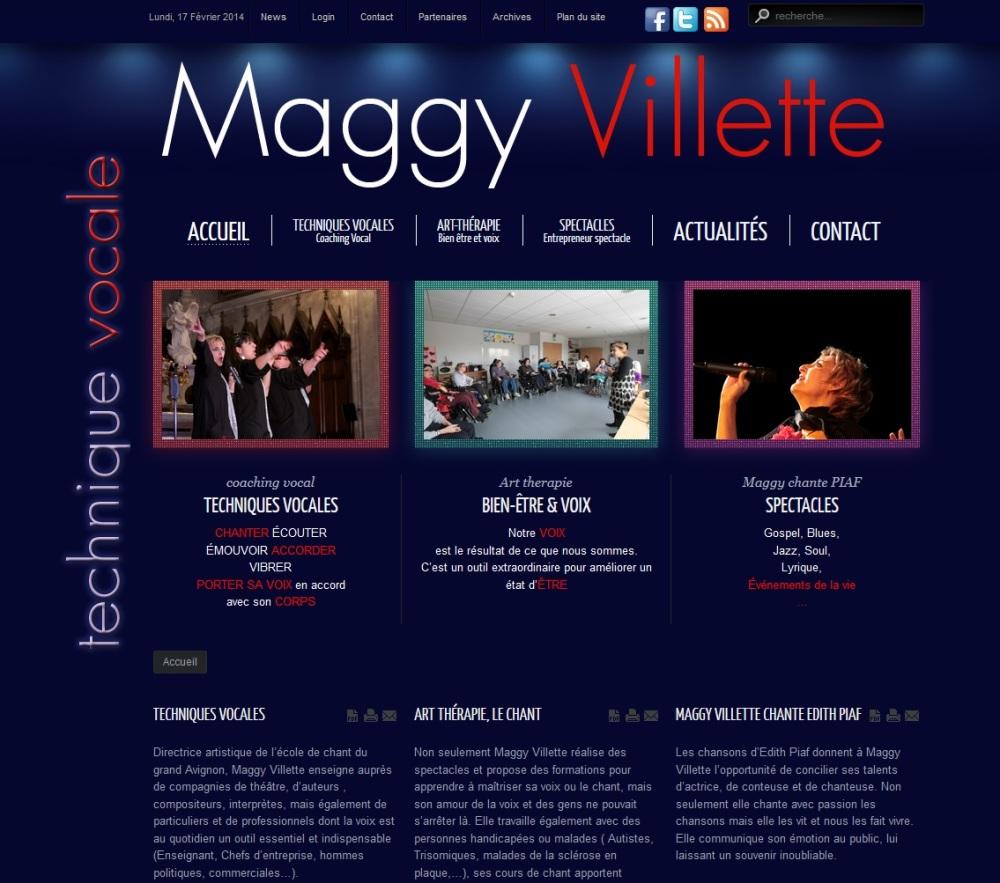 Maggy Villette, chanteuse, interprète, coach vocal, professeur de chant