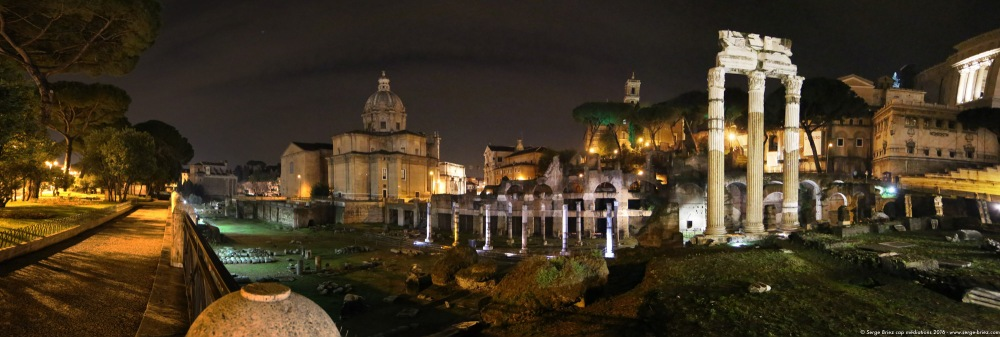 Panoramique Rome photo Serge Briez