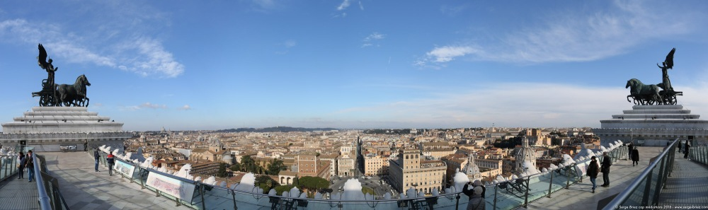 Panoramique Rome photo Serge Briez