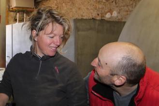 Photographie de Pierre et Mireille Mann vignerons du Mas des Caprices, Photos Serge Briez 2012 pour Cap Médiations