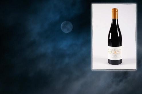 Infographie pour la page de présentation du vin rouge Retour aux sources du Mas des Caprices, par Serge Briez pour Cap Médiations 2012