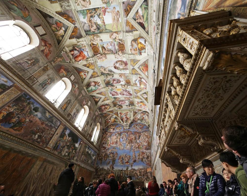Photo panoramique de la chapelle Sixtine, Vatican, Serge Briez, Cap médiations