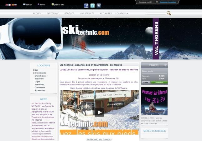 e-shop de location de matériel de ski à Valthorens réalisé par cap Médiations en 2010. Photographies et illustrations de Serge Briez