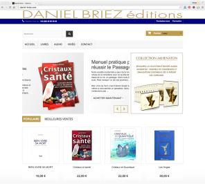Boutique Daniel Briez éditions réalisé pour la société Imagin'all en 2016 par Cap Médiations