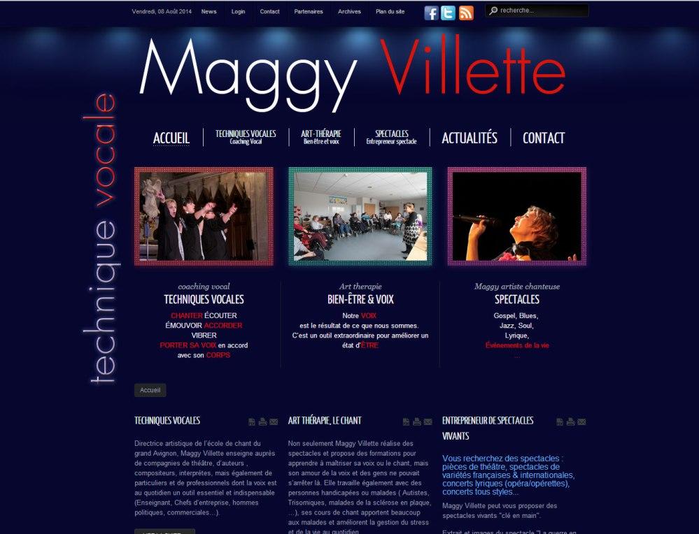 Site web de Maggy Villette, coach vocal, artiste chanteuse, entrepreneur de spectacles et art thérapeute