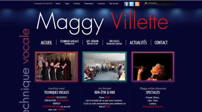 Entête du site Internet de Maggy Villette, réalisé par Cap médiations
