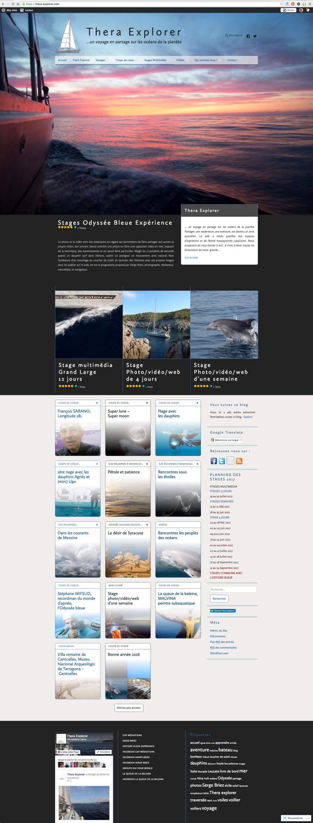 site web THERA EXPLORER