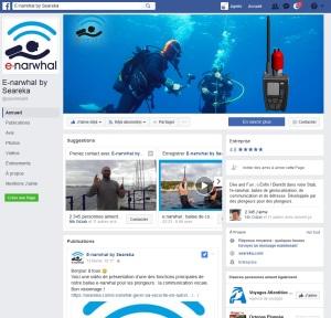 Page Facebook de Seareka pour enarwhal la nouvelle VHF de sécurité pour la plongée