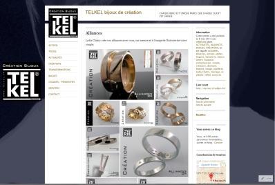 Page alliances du site de la bijouterie Telkel à Toulouse, site réalisé par Cap Médiations