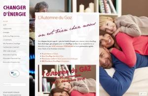 Site web, wordpress, Charger d'énergie réalisé pour la campagne l'Automne du gaz de 2014 par Cap Médiations