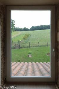 Photo vue depuis les chambres pour les Chambres d'hôte de Rouffiac, entre lot et Dordogne, Photo Serge Briez, Cap Médiations 2013
