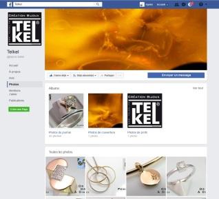 Page facebook de la bijouterie de créations Telkel à Toulouse