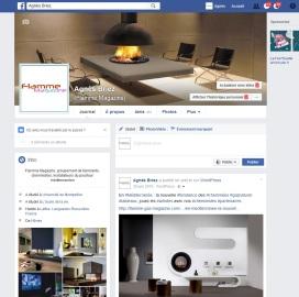 Compte facebook de Flamme Magazine, groupement de professionnels pour la promotion des poêles et cheminées au gaz