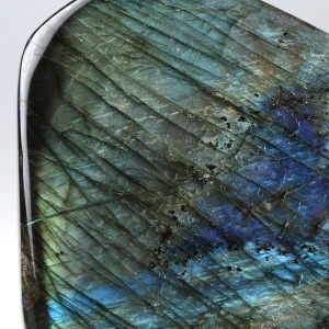 Détail d'une labradorite, Photo Serge Briez, copyright Cap médiations 2015