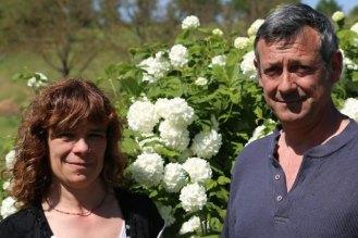 Patricia et Thierry Carbonnel des chambres d'hôte de Rouffiac, photo Serge Briez, pour Cap médiations 2013