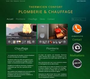 Site web général de Thermicien confort ; http://chauffage-plomberie-perpignan.fr réalisé en 2012 par Cap Médiations