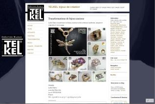 Page transformations de bijoux anciens du site de la bijouterie Telkel à Toulouse, site réalisé par Cap Médiations