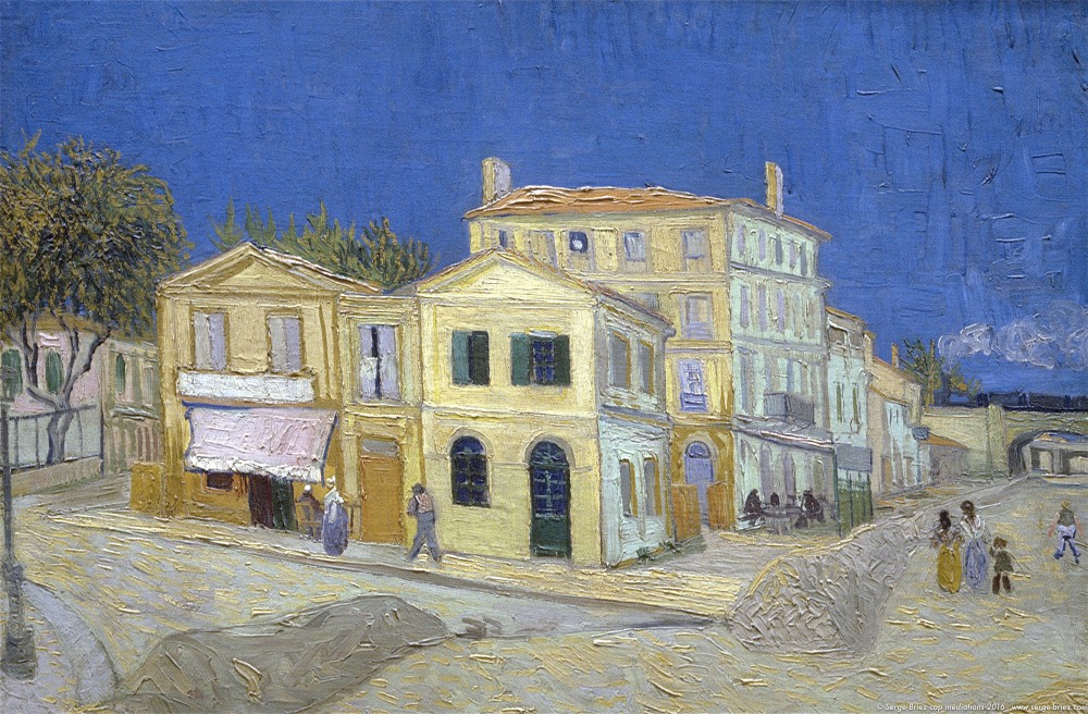 Vincent van Gogh, la maison jaune en Arles, photo Serge Briez®