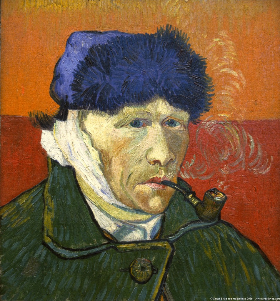 VINCENT VAN GOGH, autoportrait à l'oreille coupée, photo Serge Briez®