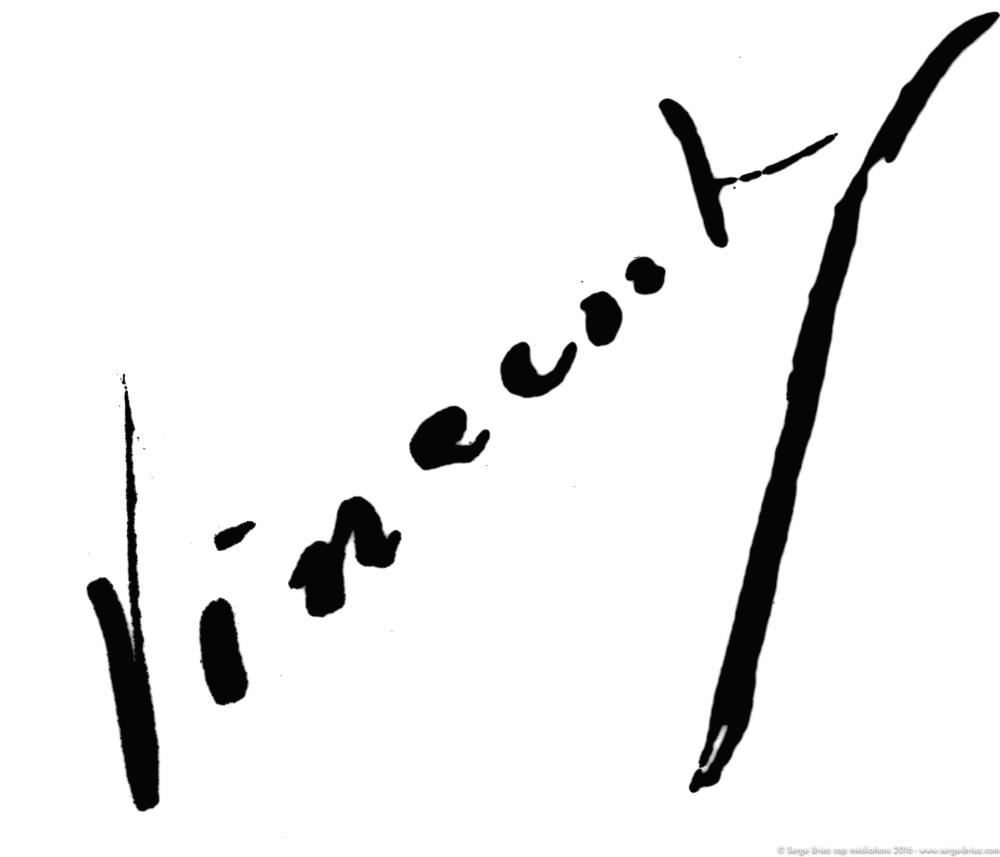 signature de Vincent Van GOGH, photo Serge Briez®
